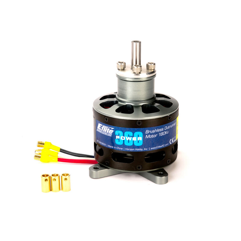 Power 360 Brushless Outrunner Motor, 180Kv: 6.5mm Bullet