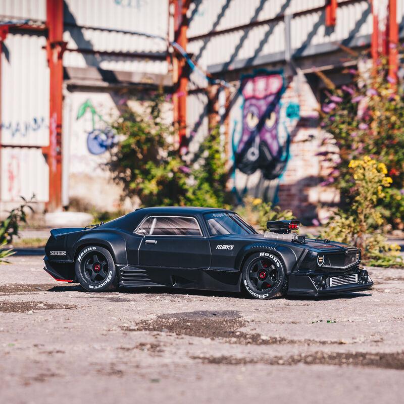 1/7 FELONY 6S BLX Street Bash All-Road Muscle Car RTR, Black