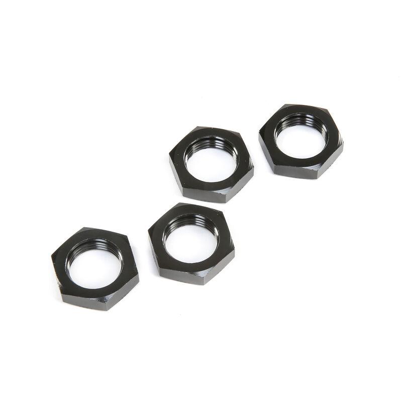 Wheel Nuts, Black (4): 5ive-T 2.0