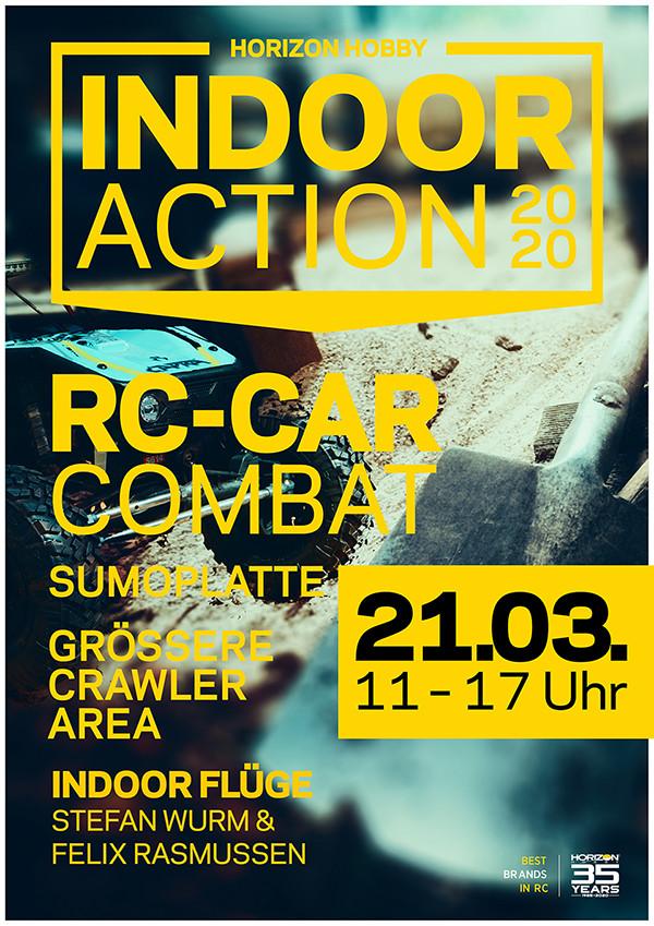 Horizon Hobby Indoor Action 2020 RC-CAR COMBAT Grössere Crawler Area Indoor Flüge Stefan Wurm & Felix Rass,ussen