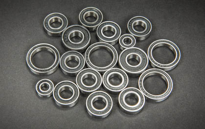 RUBBER SHIELDED BEARINGS THROUGHOUT
