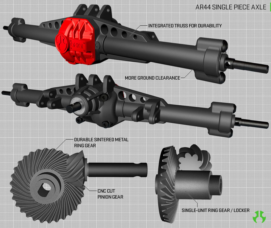AR44™ High-Pinion Achsen
