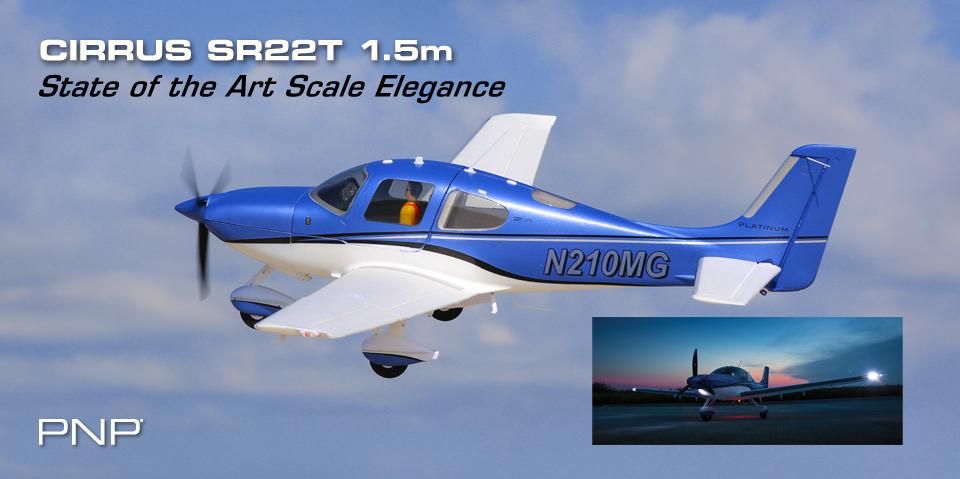 E-flite Cirrus SR22T PNP
