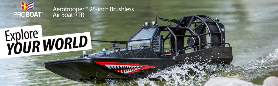 Pro Boat® Aerotrooper™ 25-Inch Brushless RTR Air Boat